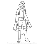 How to Draw Derek from The Swan Princess