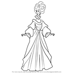 How to Draw Queen Uberta from The Swan Princess