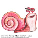 How to Draw Burn from Turbo Movie