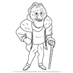 How to Draw Charles F. Muntz from Up