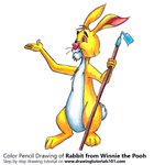 How to Draw Rabbit from Winnie the Pooh
