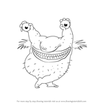 How to Draw Krumm from Aaahh!!! Real Monsters