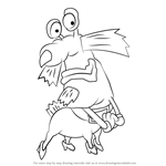 How to Draw The Gromble from Aaahh!!! Real Monsters