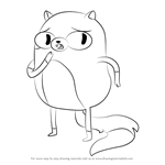 How to Draw Cake the Cat from Adventure Time
