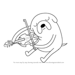 How to Draw Jake playing Viola from Adventure Time