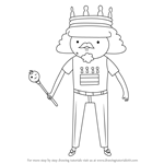 How to Draw King of Ooo from Adventure Time