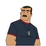 How to Draw Coach Sackerson from American Dragon Jake Long