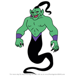 How to Draw Djinn from American Dragon Jake Long