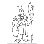 How to Draw The Huntsman from American - Dragon Jake Long