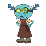 How to Draw Leopold Loggle from Amphibia