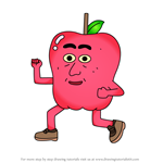 How to Draw Apple's Dad from Apple & Onion