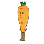 How to Draw Carrot from Apple & Onion