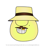 How to Draw Mr. Lunt from Apple & Onion