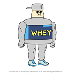 How to Draw Whey Man from Apple & Onion