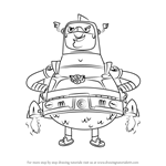 How to Draw Mookie from Atomic Puppet