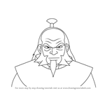 How to Draw Iroh from Avatar The Last Airbender