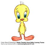 How to Draw Baby Tweety from Baby Looney Tunes