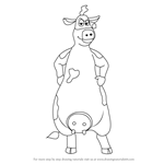 How to Draw Bessy from Back at the Barnyard