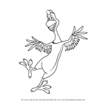 How to Draw Peck from Back at the Barnyard