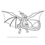 How to Draw Delta Dragonoid from Bakugan Battle Brawlers