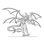 How to Draw Lumino Dragonoid from Bakugan Battle Brawlers