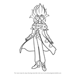 How to Draw Masquerade from Bakugan Battle Brawlers