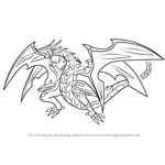 How to Draw Neo Dragonoid from Bakugan Battle Brawlers