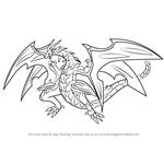 How to Draw Neo Dragonoid from Bakugan Battle Brawlers