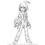 How to Draw Shun Kazami from Bakugan Battle Brawlers