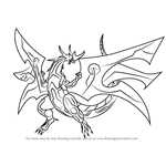 How to Draw Ultimate Dragonoid from Bakugan Battle Brawlers