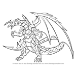 How to Draw Viper Helios from Bakugan Battle Brawlers