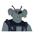 How to Draw Modo from Biker Mice from Mars