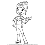 How to Draw Gabby from Blaze and the Monster Machines