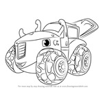 How to Draw Zeg from Blaze and the Monster Machines