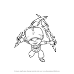 How to Draw BoBoiBoy Thunderstorm from BoBoiBoy