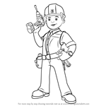 How to Draw Bob from Bob the Builder 2015