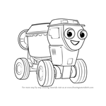 How to Draw Dizzy from Bob the Builder 2015