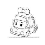How to Draw Mini from Robocar Poli
