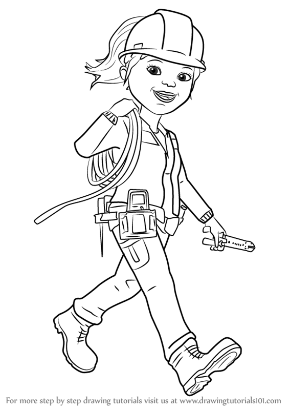 Learn How to Draw Wendy from Bob the Builder 2015 (Bob the ...