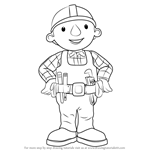 How to Draw Bob from Bob the Builder