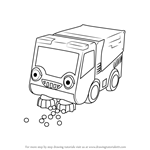 How to Draw Bristle from Bob the Builder