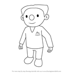 How to Draw J.J. from Bob the Builder