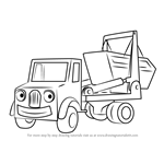 How to Draw Skip from Bob the Builder
