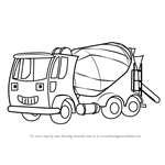 How to Draw Tumbler from Bob the Builder