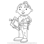 How to Draw Wendy from Bob the Builder