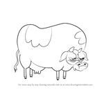 How to Draw Cow from Bravest Warriors