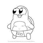 How to Draw Baby Turtle from Breadwinners