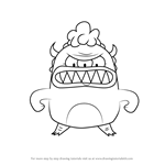 How to Draw Mama Monster from Breadwinners