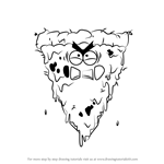 How to Draw Pizza Lord from Breadwinners
