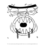 How to Draw Tunnel Eater from Breadwinners